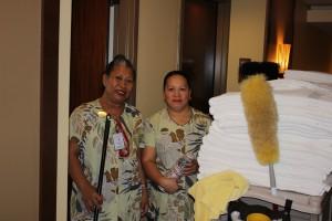 Room Stylist Rebecca Edra and Inspectress Bernadette San Gil.
