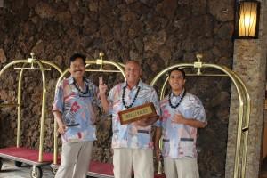 Bell & Valet (l-r): Reynaldo Pagatpatan, Jasper Tapec and Wayne Saunders.