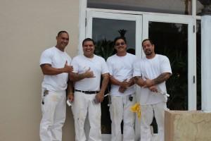 Maintenance Department - Painters (l-r): Dalton Magno, Martin Garcilazo, Darren Lung and Sean Figueroa.
